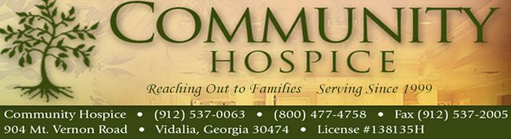 Community Hospice - OBITUARY BOTTOM